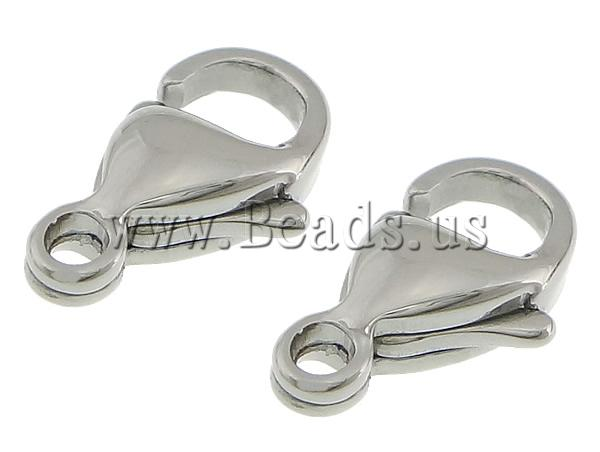 Free shipping!!!Stainless Steel Lobster Claw Clasp,Jewelry Accessories, 316L Stainless Steel, oril color, 5.50x9.50x3.50mm