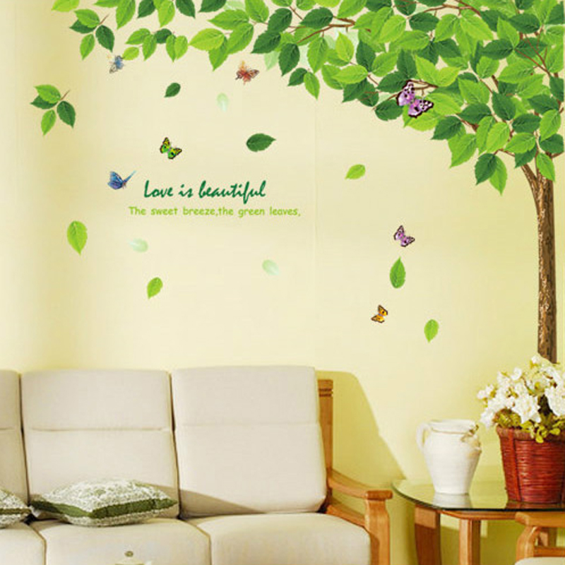 Tree Wall Art Sticker Decorazioni Murali Decor Decalcomanie Murali ...
