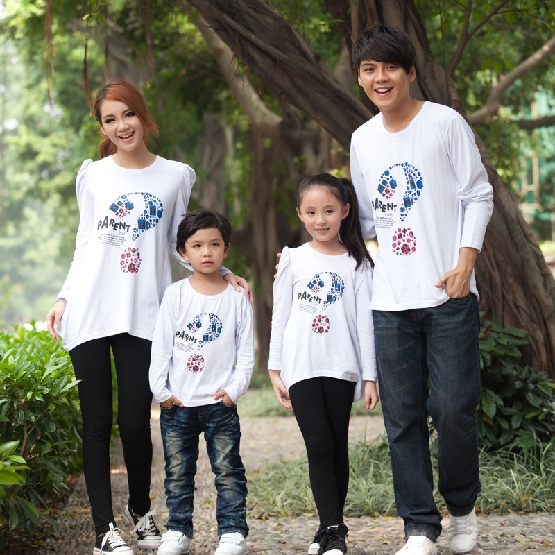 Family fashion 2013 spring and autumn long-sleeve family set family pack long-sleeve T-shirt