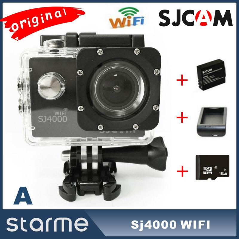 Original SJ4000 wifi SJCAM Action Camera Full HD 1080P Waterproof Helmet Camera Underwater Sport DV Gopro style action camera(China (Mainland))