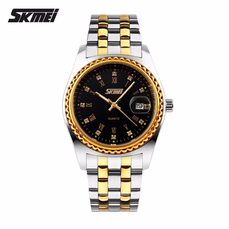 Watches men Skmei luxury brand quartz watch wristwatch casual Business reloj hombre dive 30m sport gold Clock relogio masculino