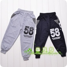 Special children's trousers new 58 digital boy pants autumn boy's clothes(China (Mainland))