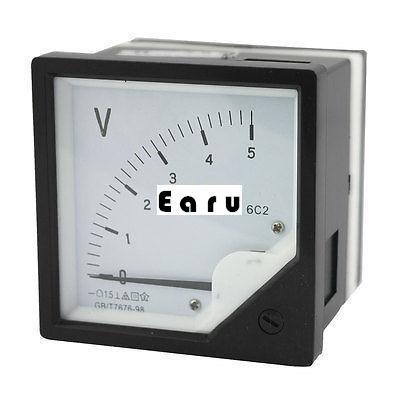 Rectangle Plastic Analog Voltmeter Voltage Meter DC 0-5V(China (Mainland))