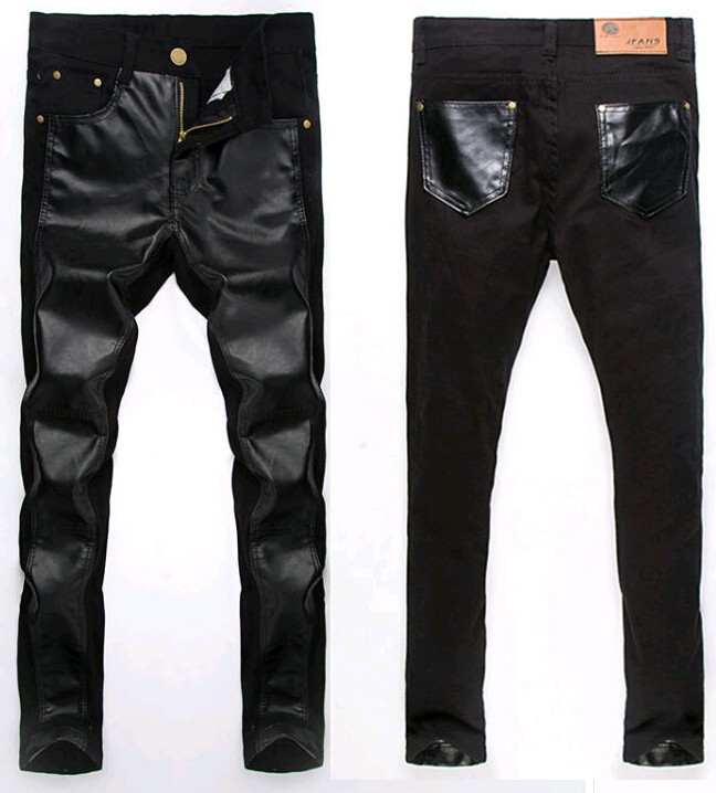 Jeans Leathers Leather Mens Jeans Skinny