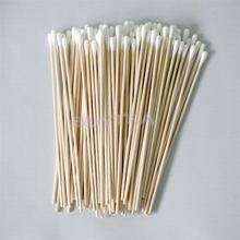 100 Pcs/lot 15mm Wood Cotton Head Health Makeup Cosmetics Ear Clean Jewelry Clean Cotton Swab Stick Buds Tip For Medical 15cm(China (Mainland))