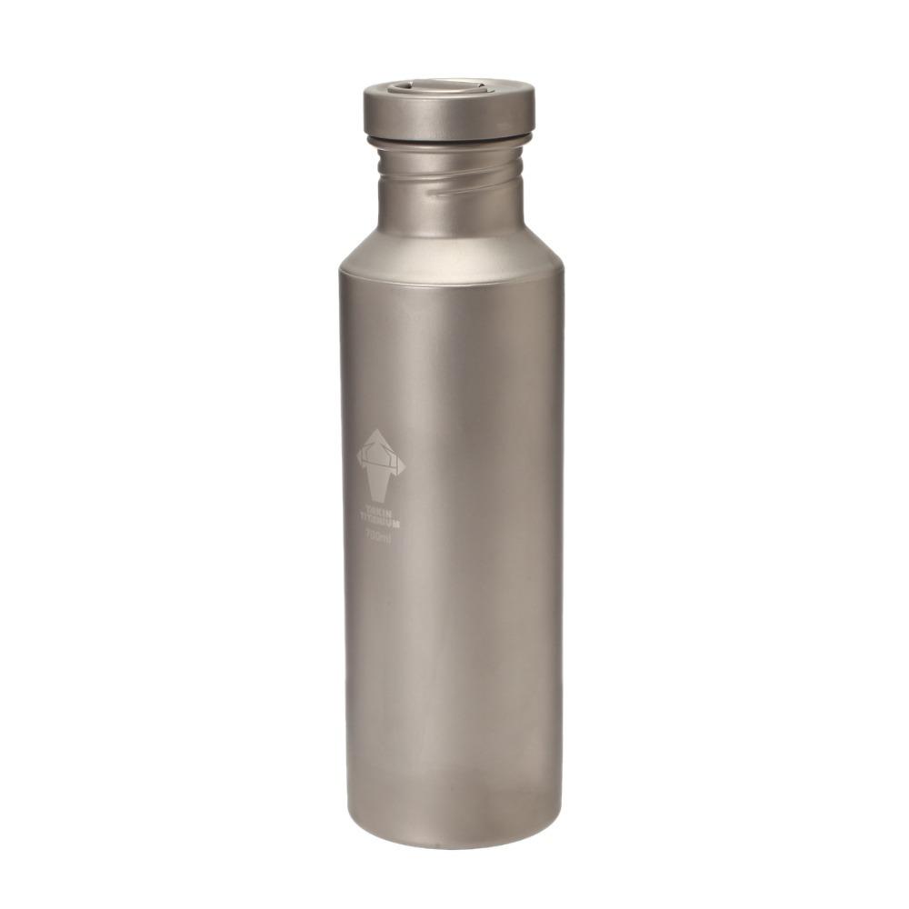 Бутылка для воды Pure titanium water bottle 700ML110g outdoor water bottle Tianium бутылка для воды oem 480 16oz folding water bottle 480ml