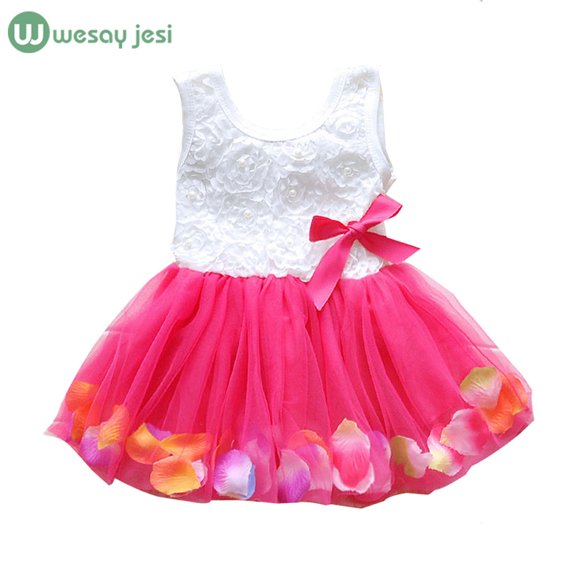 Baby dress 2016 sleeveless Flower girls baby summer floral 1 year birthday Princess Dress infant Girl Clothing - stars twinkle store