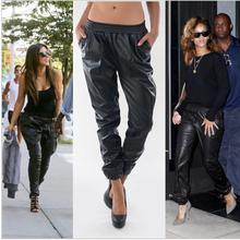 2015 new harem women pants women in Europe and America female sports pants casual fashion leather pants plus size XS-XXXL(China (Mainland))