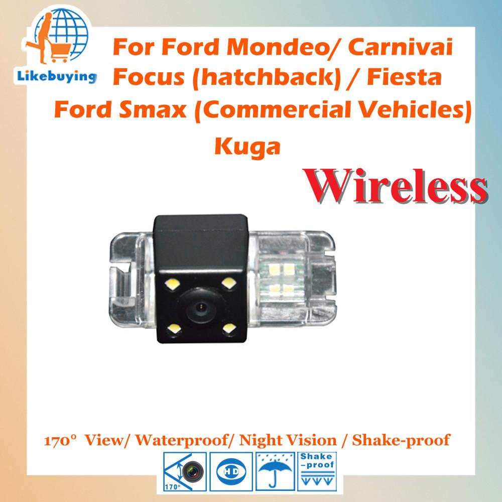 Wireless CCD Rear Camera Ford Mondeo / Carnivai Focus (hatchback) Fiesta Smax (C.V.) Kuga