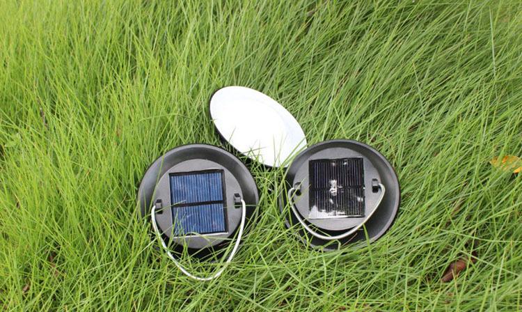 Mini Solar Power Camping Lamp 5 Leds Hanging Lantern Light for Outdoor Garden Free Shipping(China (Mainland))