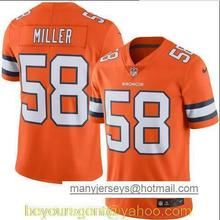 Men's 2016 free shipping,100% Stitiched,Denver Broncos Von Miller #58 no-1(China (Mainland))