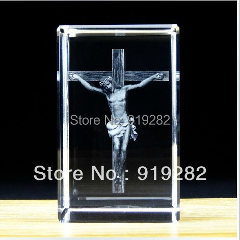3d laser crystal Jesus cross home decoration religious gift friends souvenir  -  LOVE IN LOVE store