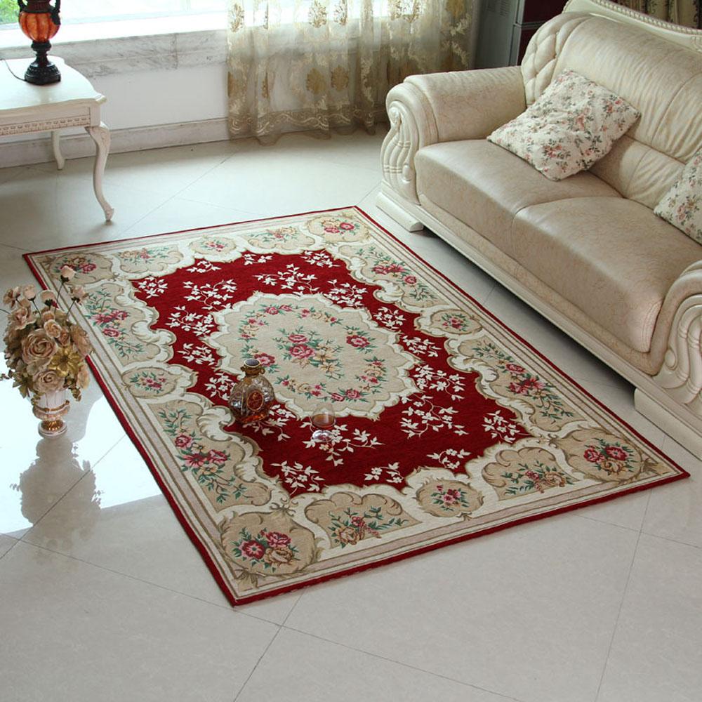 european exquisite non slip thicken living room floral area carpet classical bedroom floor area. Black Bedroom Furniture Sets. Home Design Ideas