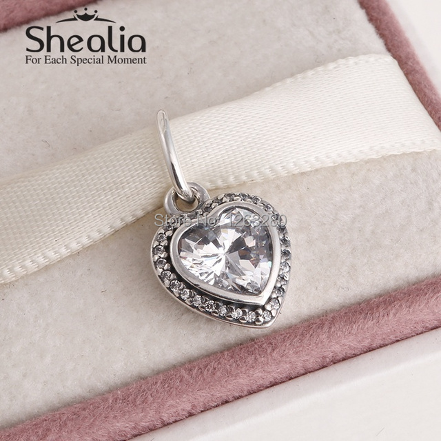 2015 мать в форме сердца качает бусины с камнями стерлингового серебра 925 SHEALIA ювелирные известный бренд diy браслеты DG146