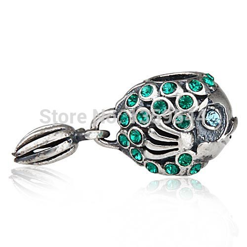 Splish splash fish with crystal 100 925 sterling silver for Pandora fish charm