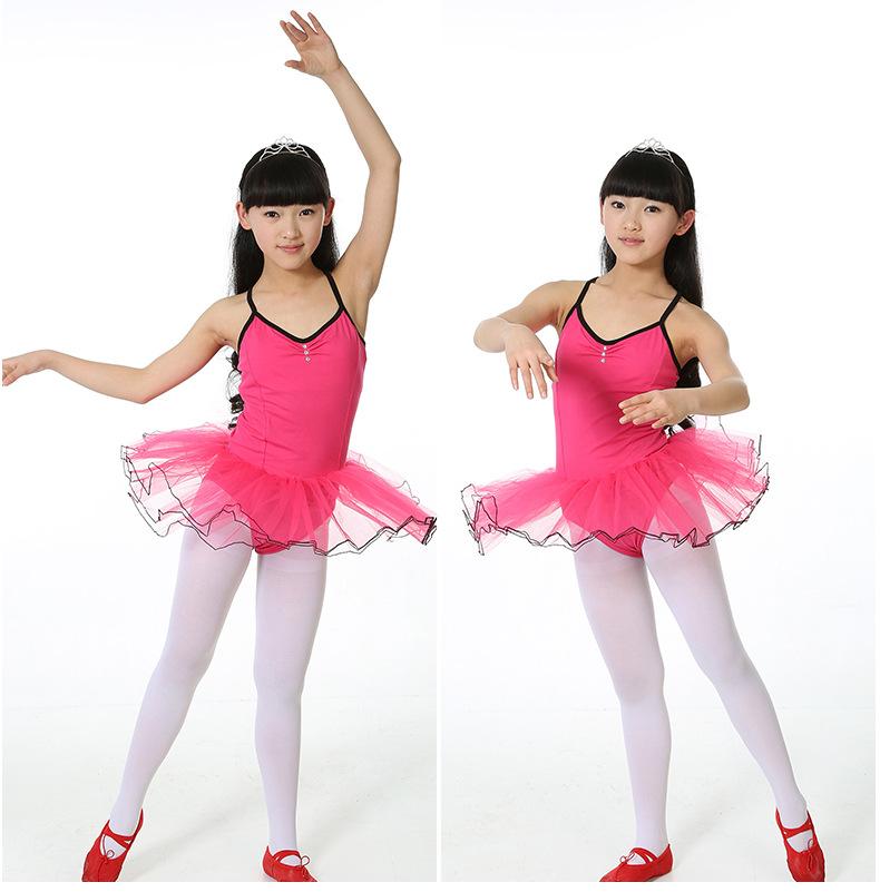 Children Dance leotard Tulle Dress Strap Backcross Rose Blue Pink Ballet tutu Costume Gymnastics Leotard(China (Mainland))