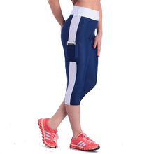 Buy 2017 Leggings Women Patchwork Pocket Fitness Legging High Waist Slim Skinny Workout Mid-Calf Midi Pencil Pants Candy Color for $7.46 in AliExpress store