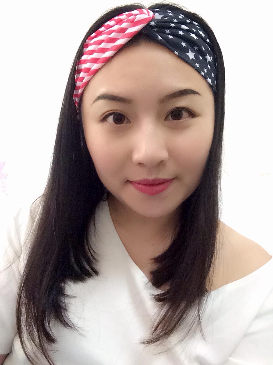 American Flag Headband USA Hair Band Red White Black Fashion women hair Accessory girl Turban head wrap Classic - Topbabyhouse store
