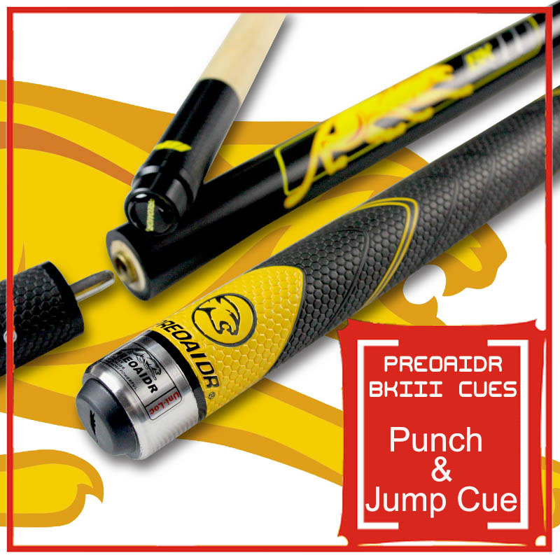 2016 Three Sections BK3 Pool Punch & Jump Cue 13mm Tip Sport Handle 148.5cm Length China(China (Mainland))