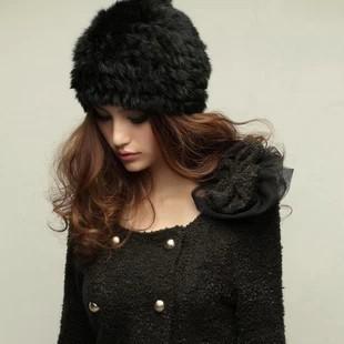 Free shipping 2014 New Fashion Winter Warm Womens Beanie Short Rabbit hair Fake Mink Fur Hat Faux Fur Cap Hats Beanies For Women(China (Mainland))