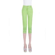 Women Capris Pants Summer 2016 Plus Size Casual Capris For Women Slim Cotton Candy Calf-Length Pant Free Shipping