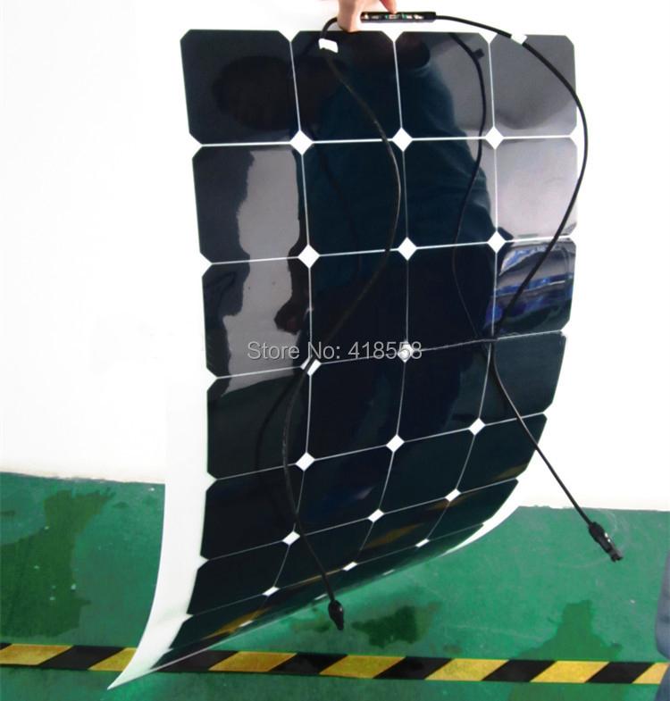 100w mono semi-flexible solar panel, 100watt flexible solar panel for boat RV(China (Mainland))