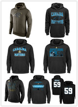 Men's Green Olive Salute To Service KO Performance Hoodie Cam Newton Luke Kuechly Kelvin Benjamin jersey Sweatshirt(China (Mainland))