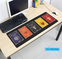 Game of Thrones mouse pad 80x30cm pad to mouse notbook computer mousepad locrkand gaming padmouse gamer to keyboard mouse mats(China)