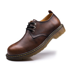 2017 New Oxfords Shoes For Men Black Business Work Shoes Fashion Genuine Leather Men Flat Shoes Big Size From 38-47 Autumn Flats(China (Mainland))