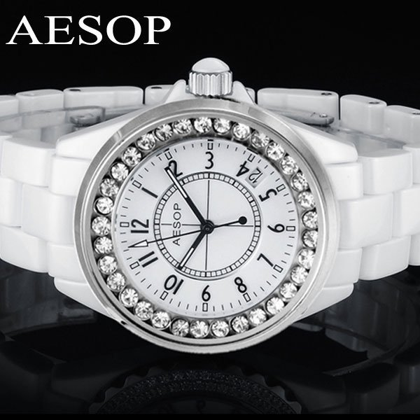 Aesop watch ceramic fashion wristwatch Luminous dial women's quartz watches brand new design 9930 free shipping