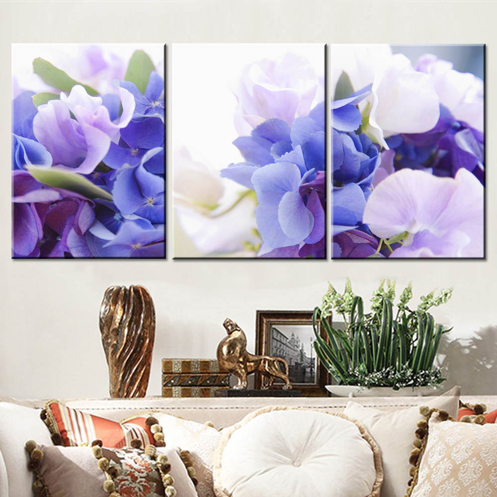 Oil Painting Canvas Print Flower Modern Home Decoration Picture Canvas Art Work Gift for Living Room Wall Poster 3pcs(China (Mainland))