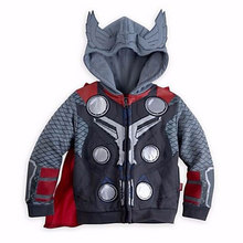 2015 New Arrival Boys Girls Fashion Captain America Jackets Children Outerwear Coat Hoodies Kids Cotton Clothing Zipper Clothes(China (Mainland))
