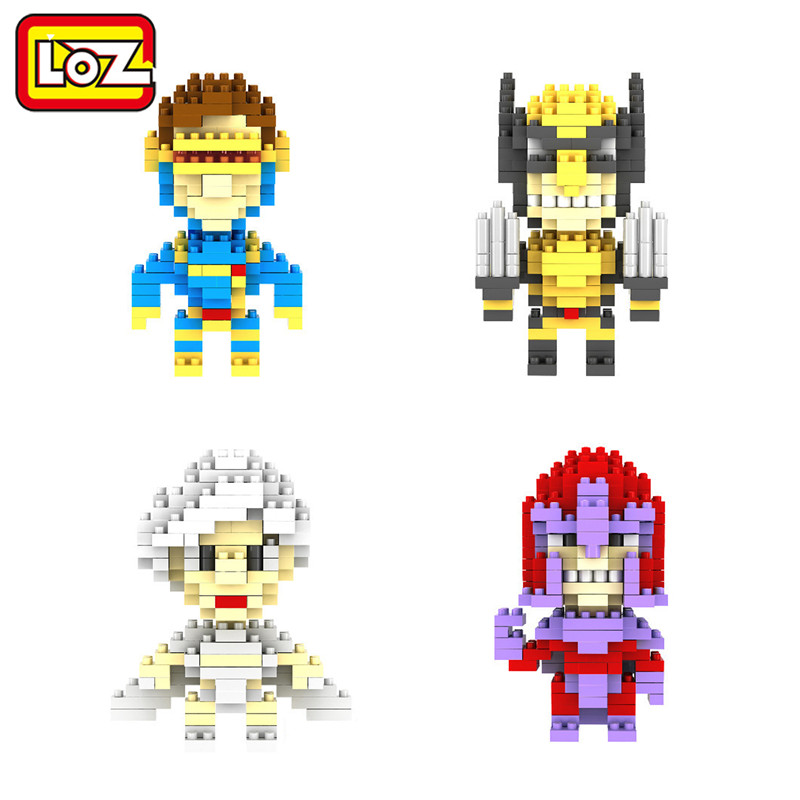 LOZ Diamond Building Blocks X-Men Cyclops Magneto Wolverine Storm Figures Model Toys Christmas Gift toys for Children(China (Mainland))