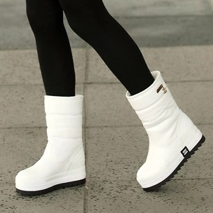 Winter New Arrival,Fashion Retro Brand Snowboot,Warm Rabbit Fur Boots,Waterproof SnowShoes,High Quality,Heighten Boots - Cow's love store