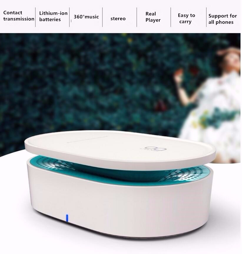 Speaker Portable Wireless Stereo Subwoofer Contact Without Audio Cable Wifi Bluetooth Built-in Battery PC Phone MP3