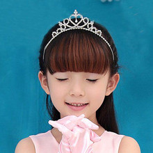 Buy Cute Children Kids Girls Tiara Rhinestone Princess Hair Accessories Jewelry Party Bridal Hair Band Shiny Crown Headband for $3.68 in AliExpress store
