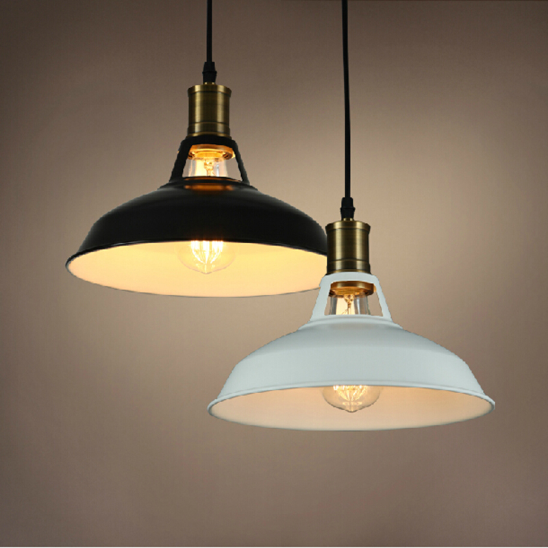 vintage pendant light painted Iron loft lamp Nordic Retro Light Incandescent Bulbs E27 lamp Industrial Lighting Fixtures(China (Mainland))