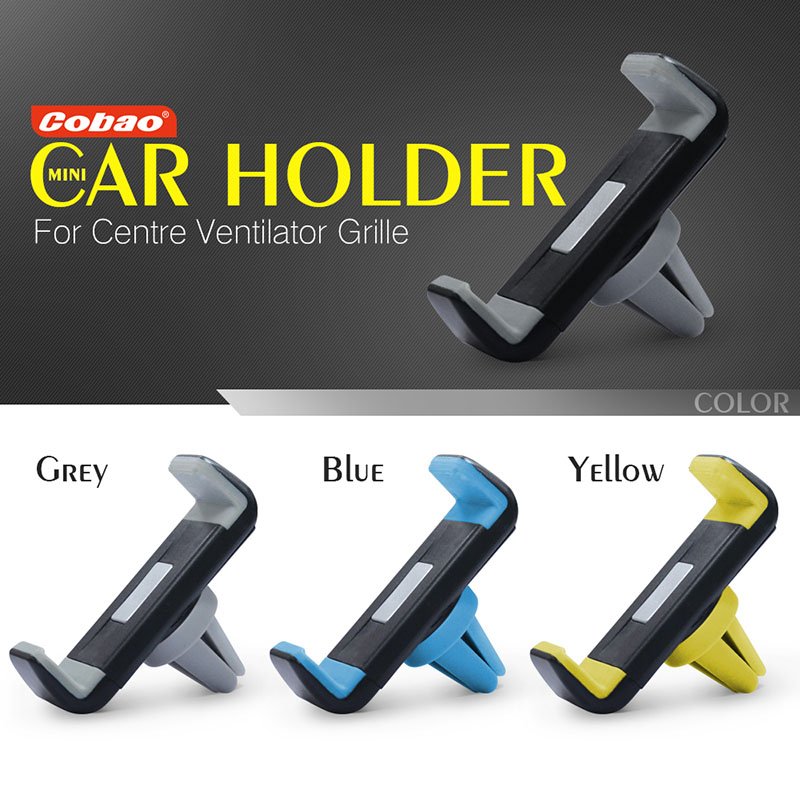 Univeral car air vent holder Cobao 360 degree rotation car cell phone holder for iPhone 5 6 6S Galaxy S4 S5 S6(China (Mainland))