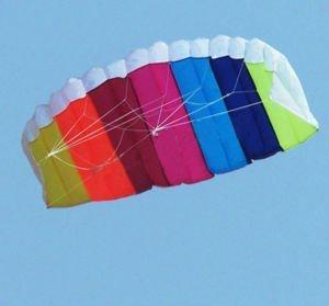 2012 HOT SALE Beautiful 1.4 m 2 Line Rainbow Sport Kite+gift