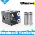 Ultimaker 2 UM2 Extruder Hot End Plastic Frame Kit with 4 Long Screws and Liner Bear