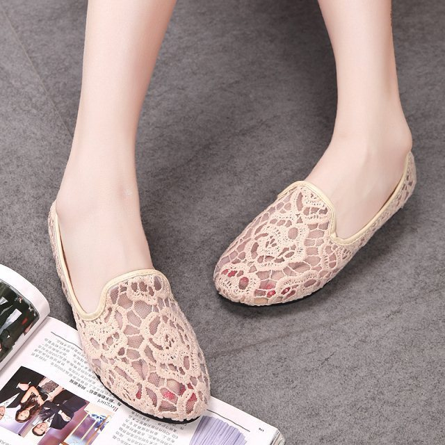 Women Wholesale Closed Toe Sandals Brand Zapatos Mujer Girls Casual Lace Shoes Woman Fretworks Canvas Flats Ladies Cute Footwear(China (Mainland))