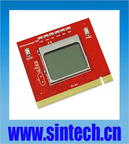 PCI pc motherboard diagnostic post debug test tester post card with LCD display for desktop(China (Mainland))