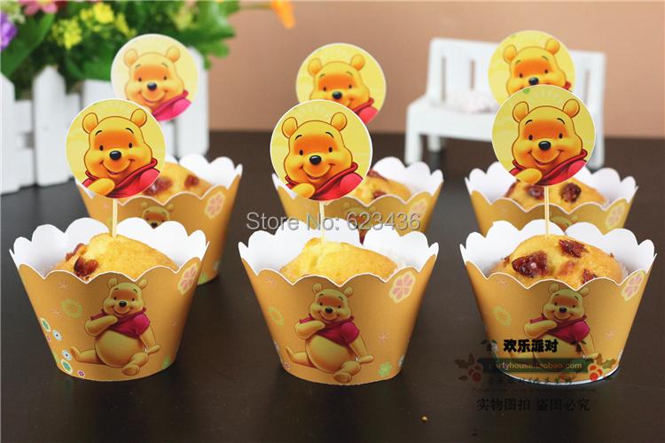 Livraison gratuite jaune conception 50 emballages 50 - Decoration anniversaire winnie l ourson ...