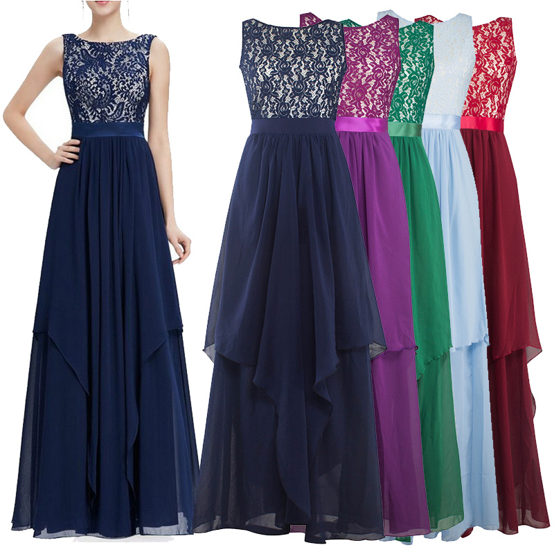 Summer Women Long Dress 2016 UK Green Elegant Prom Fashion Casual Ladies Maxi Clothes Evening Party Vestidos O-Neck Lace Dresses(China (Mainland))