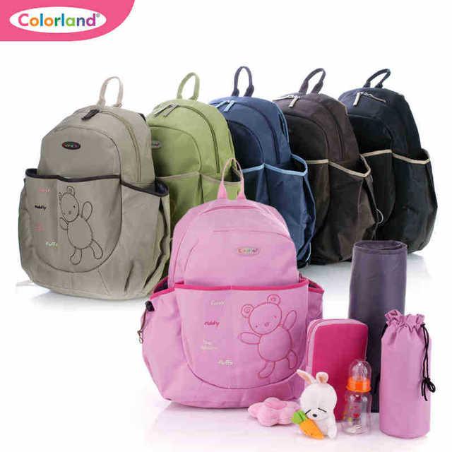 Цветland мода многофункциональный рюкзак мумия мешок водонепроницаемый ребенка пеленки ...