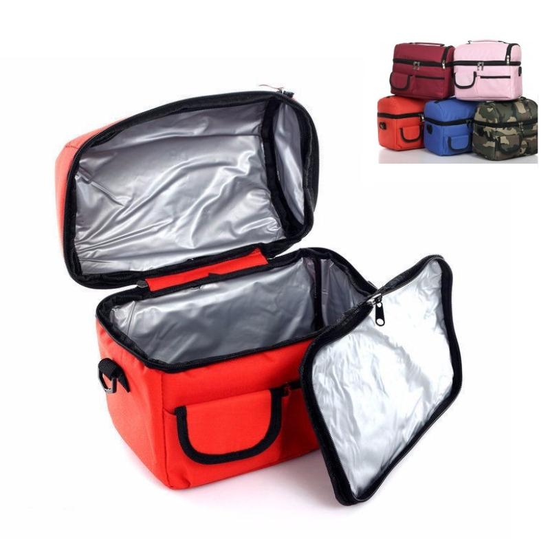 Large Capacity Portable Ice Bags Waterproof Nylon Cooler Bag Lunch Bag Leisure Picnic Packet Bento Box Food Storage Thermal Bag(China (Mainland))