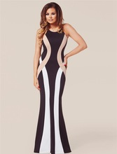 R80048 New summer style solid sleeveless elegant dress hot sale o-neck sheath sexy dresses 2015 on sale best long summer dress