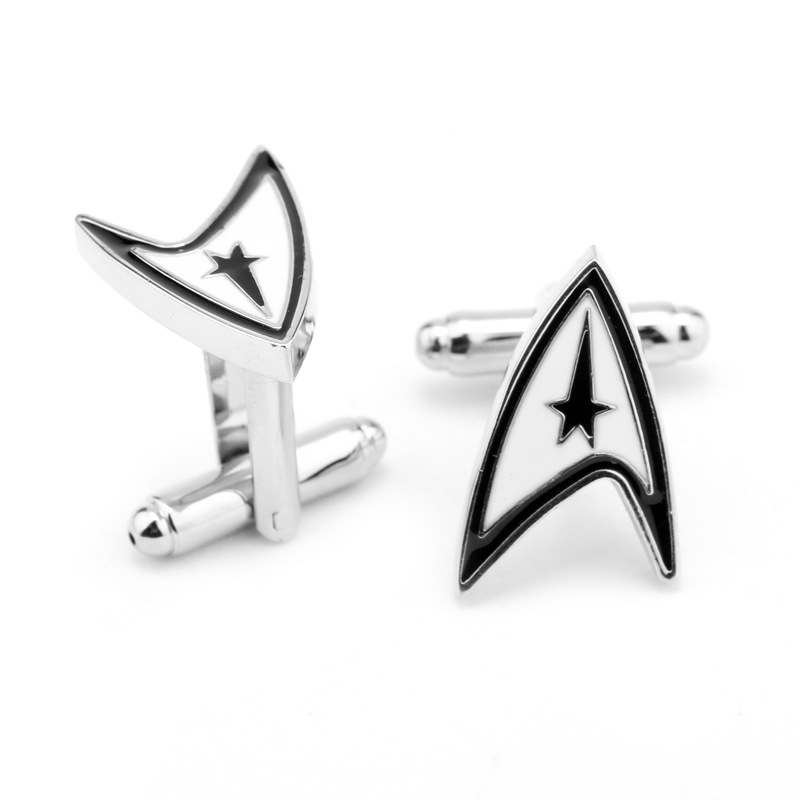 10 Pair jewellery star trek ensign Badge wars cufflinks male French shirt cuff links for men's Jewelry Gift(China (Mainland))