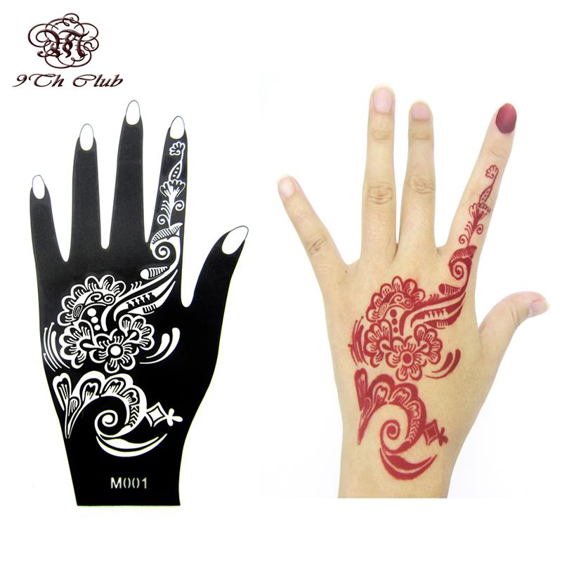 1pcs henna hand tattoo stencil flower glitter airbrush mehndi henna tattoo large templates. Black Bedroom Furniture Sets. Home Design Ideas