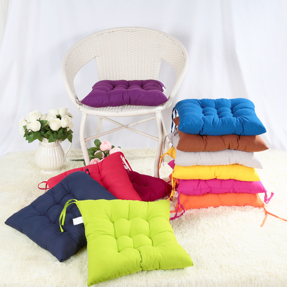 New 40*40cm Square Seat Chair Pad Cushion Pearl Cotton Colorful Chair Cusion Cushions Home Decor Pillow Plaid almofadas cojines(China (Mainland))